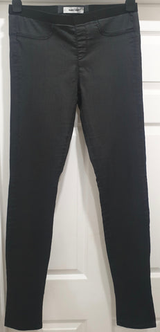 HELMUT LANG Women's Dusky Pink Wool Blend Tapered Leg Formal Trousers Pants Sz:M
