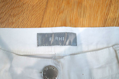FARHI By NICOLE FARHI White Cotton Blend Wide Leg Trousers Jeans Pants EU38 UK12