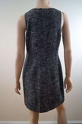 THEORY Black & White Tweed Sleeveless Formal Short Length Dress UK10 BNWT