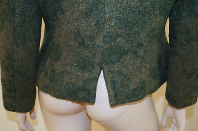 CHRISTIAN DIOR BOUTIQUE Green Wool Fitted Formal Round Neck Long Sleeve Jacket