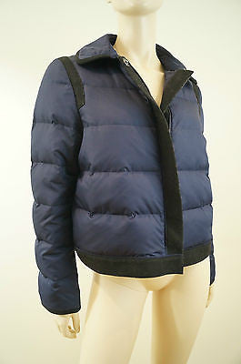 DKNY DONNA KARAN Navy & Black Duck Down Adjustable Puffa Jacket Or Coat Sz: M