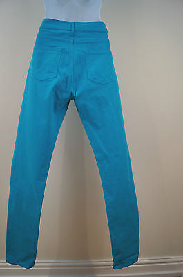 ESSENTIEL Ladies Bright Blue Skinny Slim Leg Trousers Jeans Sz29