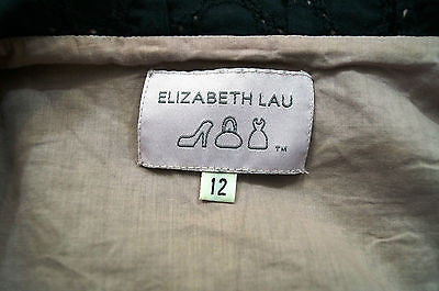 ELIZABETH LAU Black / Pale Pink 100% Cotton Embroidery Detail Smock Dress UK12