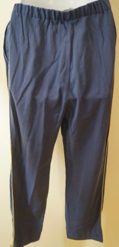 BY MALENE BIRGER Blue Gold Rope Trim Casual Crop Capri Trousers Pants 34 UK8