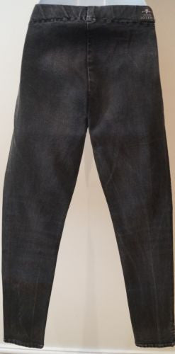 7 FOR ALL MANKIND EXCLUSIVELY FOR JOSEPH Charcoal Grey Cotton Stretch Jeggings