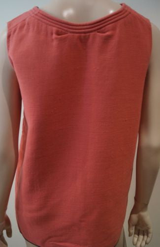 MARNI Women's Pinky Peach Wool Blend Round Neck Sleeveless Top Sz:42 UK10