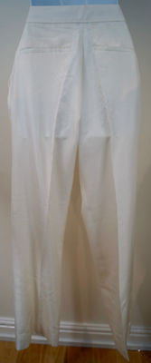 STELLA MCCARTNEY Ivory Cream 100% Silk Formal Evening Trousers Pants Sz 42; UK12