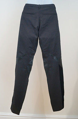 GUCCI Black Sparkle Wool Silk Velvet & Silk Panelled Trousers Pants 40 UK8 BNWT