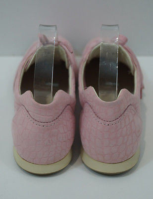 HOGAN Women's Pale Pink Suede Leather Animal Print Lace Up Trainers Sneakers UK7