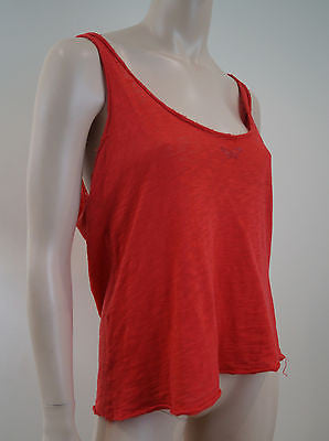 ZADIG & VOLTAIRE Red Cotton Glitter Butterfly Sleeveless Vest Tank Top Sz:M