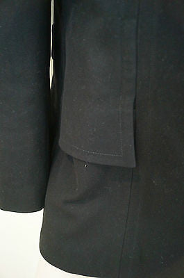 GUCCI Black Wool & Cashmere Funnel Neck Double Breasted Jacket Coat 44 UK12