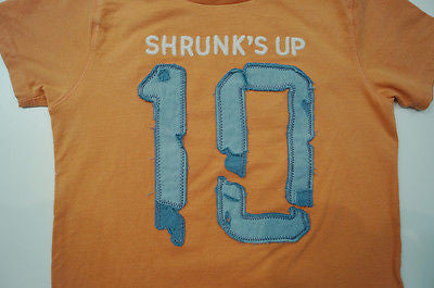 SCOTCH SHRUNK Boys Orange 100% Cotton Short Sleeve T-Shirt Tee Top BNWT
