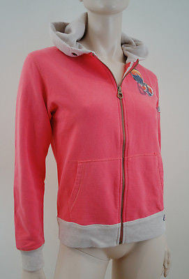 SCOTCH SHRUNK Childrens Neon Pink Orange Beige Hooded Hoodie Sweatshirt Top BNWT