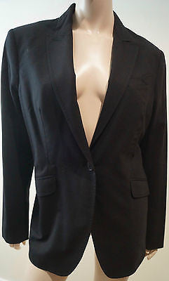 PAUL SMITH Black Label Women's Black Wool Stretch Formal Blazer Jacket Sz46 UK14
