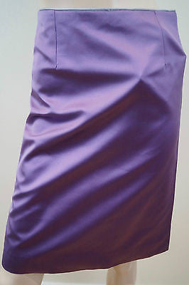 LOUIS VUITTON Purple 100% Silk Sheen Evening Pencil Skirt Sz:36 UK8 BNWT