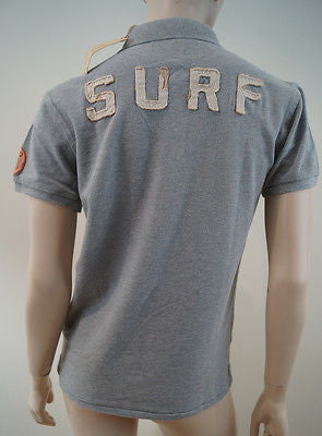 SCOTCH SHRUNK Boys Pale Grey Tahiti Surf Short Sleeve Polo Shirt Top BNWT