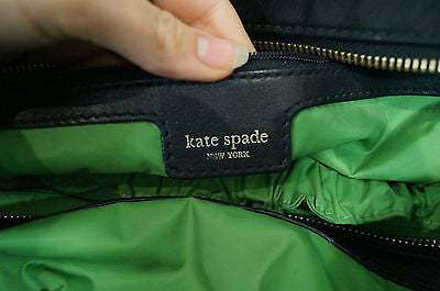KATE SPADE Black Fabric Branded Zip Fastened Double Strap Medium Casual Tote Bag