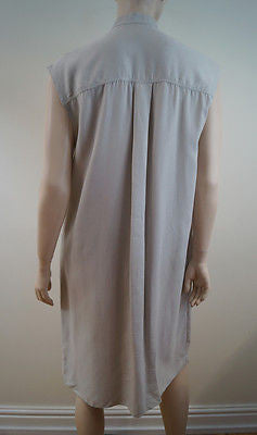 JOSEPH Beige 100% Cupro Sleeveless Button Fastened Shirt Dress Sz:38; UK10