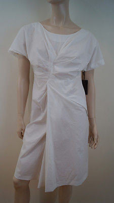 VERA WANG White Cotton & Silk Summer Dress EU40; UK10/12 US6 BNWT