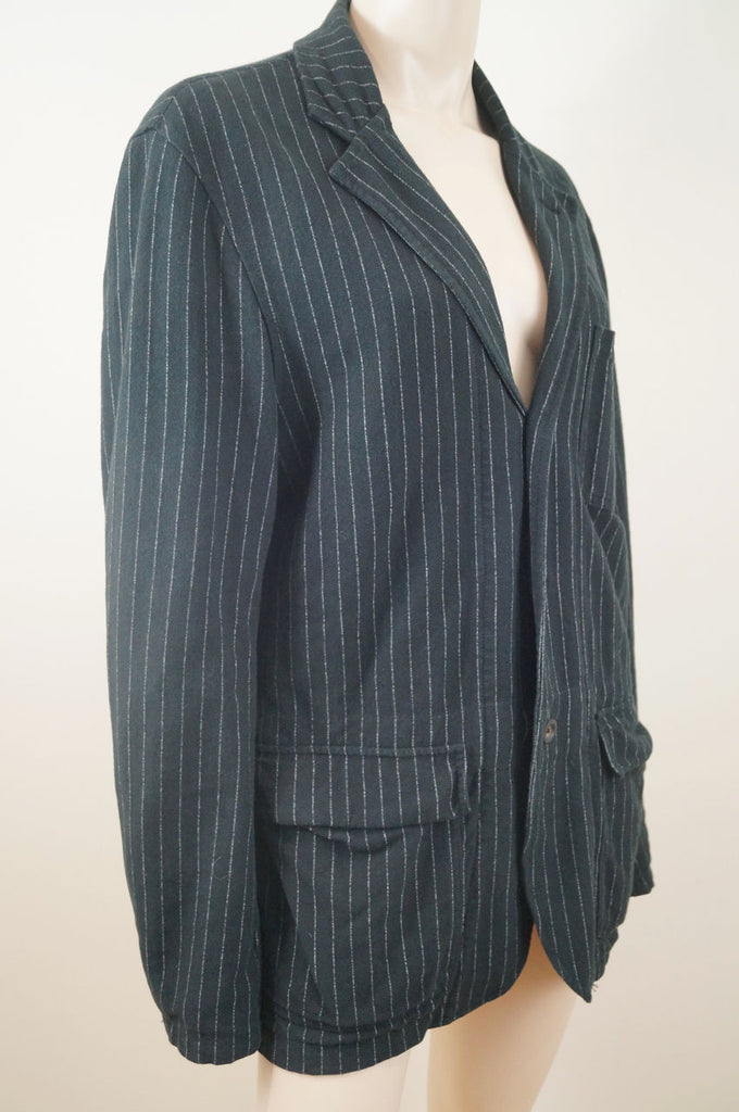 POLO RALPH LAUREN Menswear Black & Grey 100% Cotton Pinstripe Blazer Jacket M