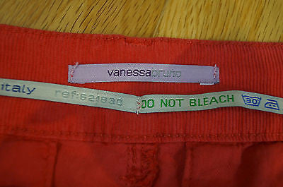 VANESSA BRUNO Made In Italy Red Casual Corduroy Trousers Cords Pants SZ:27