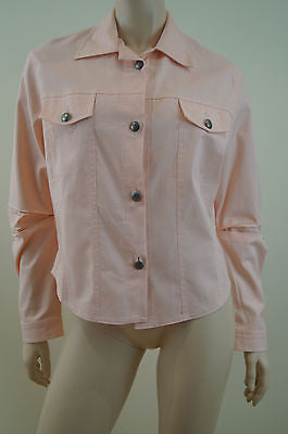 HINDAHL & SKUDELNY Salmon Pink Cotton Blend Lightweight Casual Jacket Sz: S