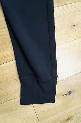 T By ALEXANDER WANG Black Cotton Leather Look Detail Casual Trousers Pants Sz:M