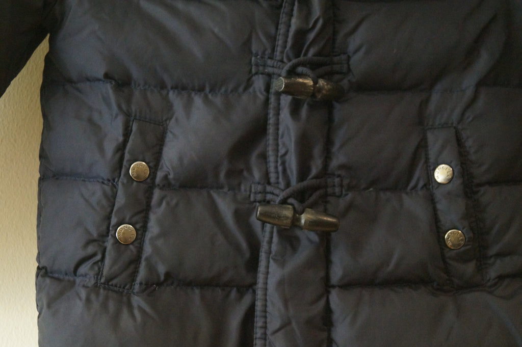 MONCLER Infant Midnight Navy Down & Feather Toggle Zip Fastened Hooded Jacket 3Y