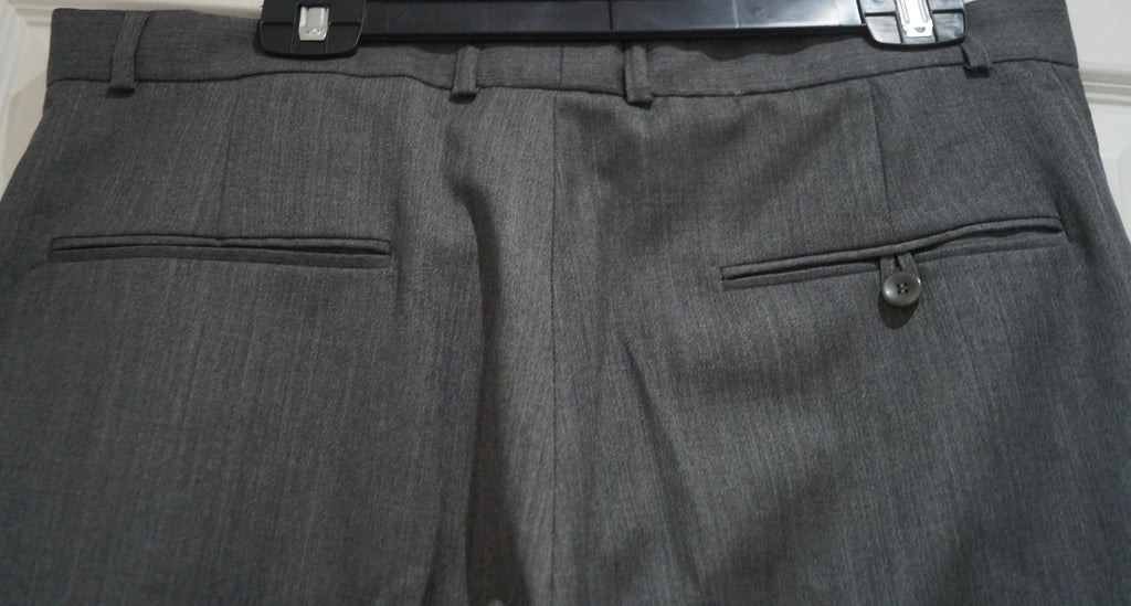 JOSEPH Made In France Menswear Pale Grey 100% Wool Formal Trousers Pants L W36