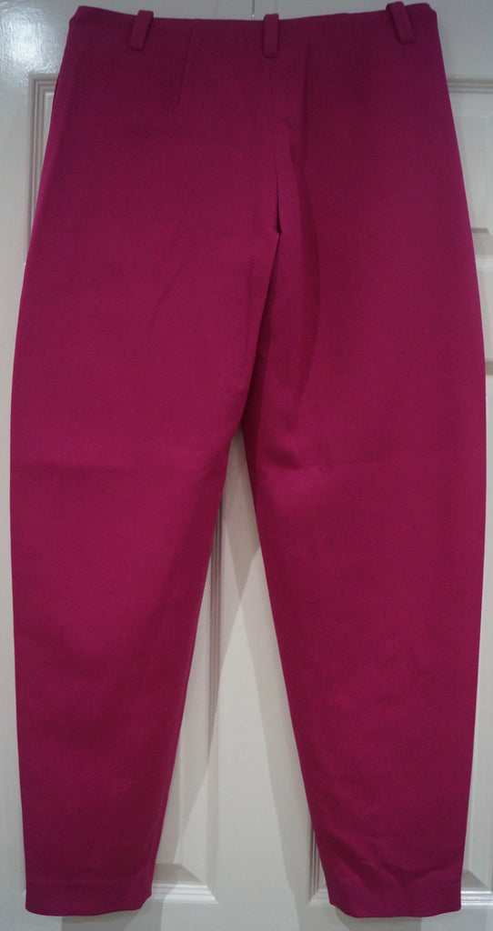 JOSEPH Women's Hot Pink Virgin Wool Blend Tapered Leg Trousers Pants FR38 UK10