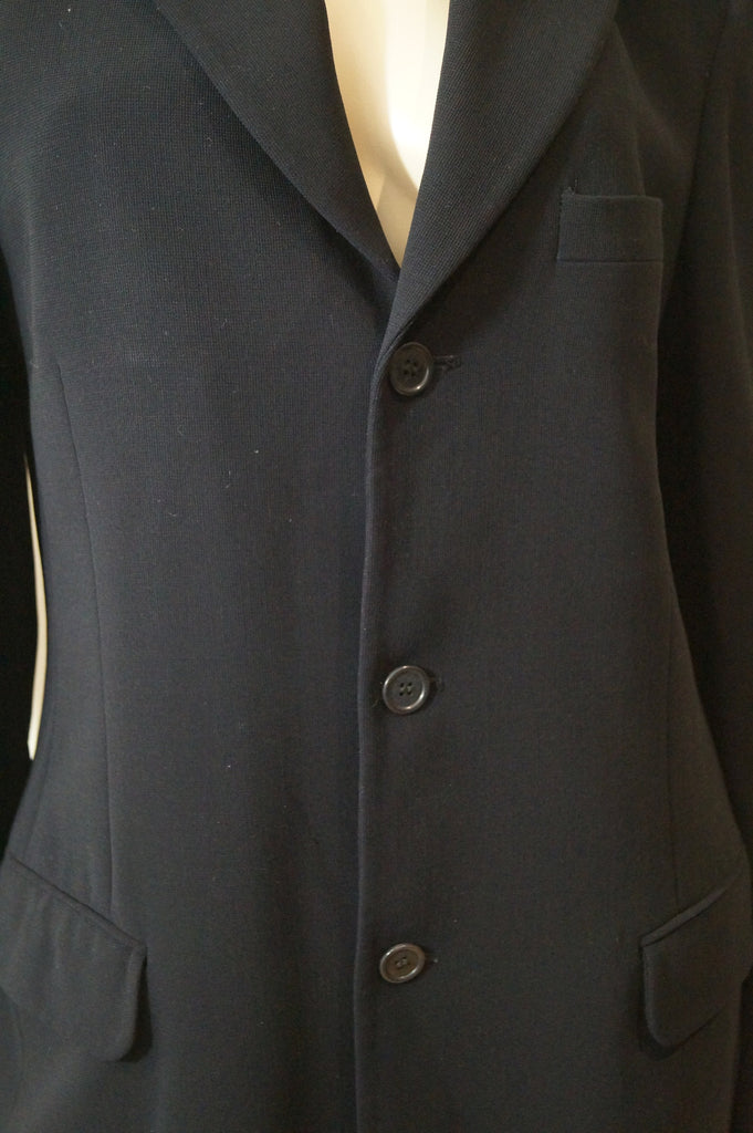 DKNY Menswear Black Wool Blend Italian Yarn Single Breast Blazer Jacket 38R