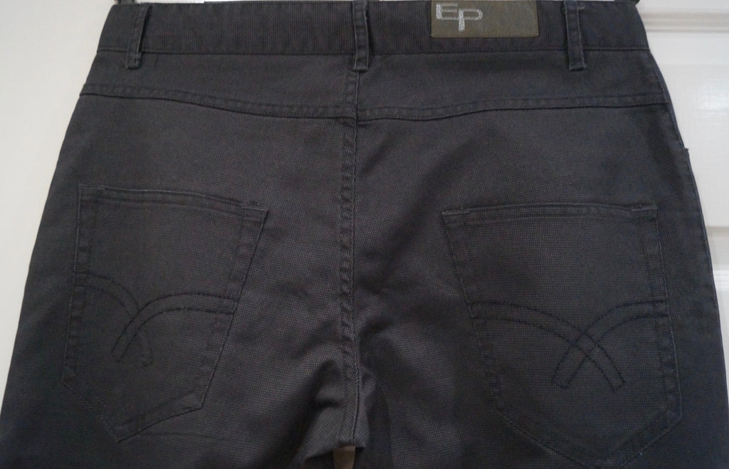 EDWEEN PEARSON Menswear Grey Cotton Speckled Skinny Trousers Pants Sz:42