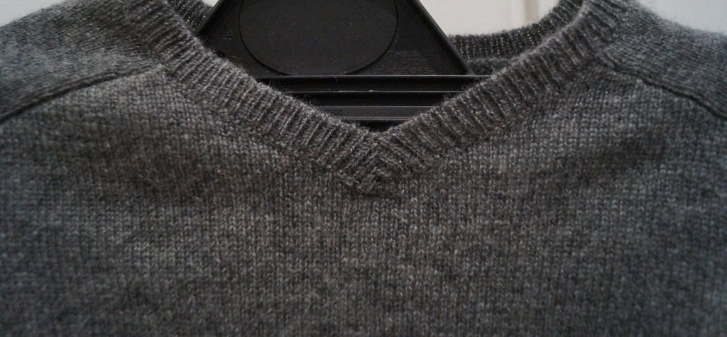 BONPOINT Baby Grey 100% Cashmere V Neck Long Sleeve Jumper Sweater Top 12M BNWT