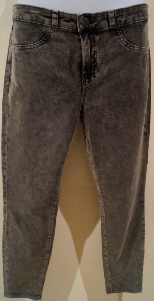 J BRAND Grey STATIC Soft Cotton Stretch Skinny Crop Treggings Leggings Trousers