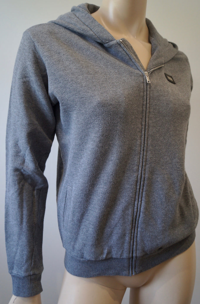 DOLCE & GABBANA Boy's Grey Cotton Branded Hoodie Zipper Sweatshirt Top 11/12Y