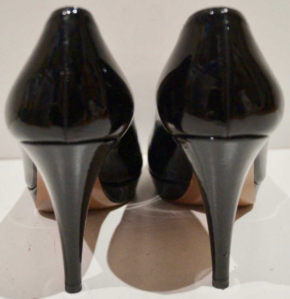 PRADA Black Patent Leather Stiletto Platform Court Shoes EU39.5 - Worn Once!