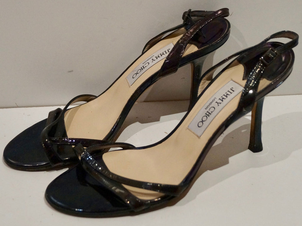8d721f353f5 ... JIMMY CHOO Chocolate Brown Leather Strappy High Stiletto Sandals Shoes  EU39 UK6 ...