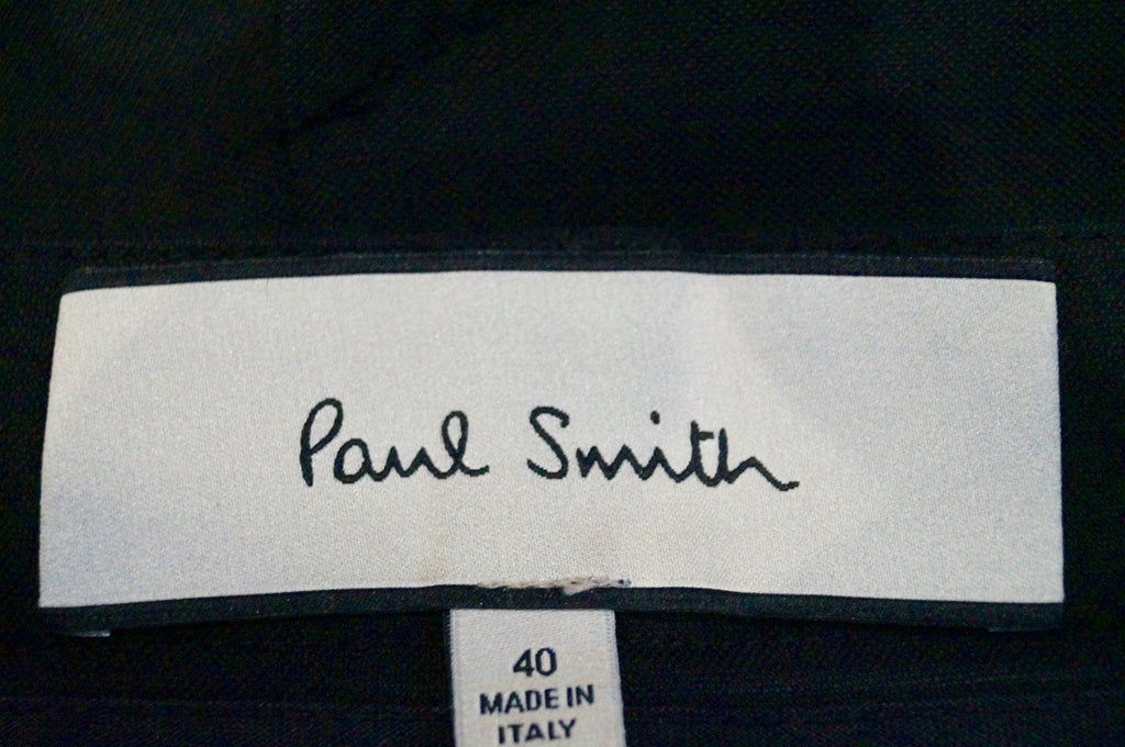PAUL SMITH Made In Italy Black Cotton Stretch Fitted Pencil Skirt Sz:40 UK8