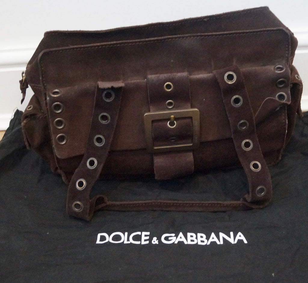 4244984610 ... Shoulder Bag; DOLCE & GABBANA Women's Brown Suede Zip Fastened Double  Strap Tote Shoulder ...