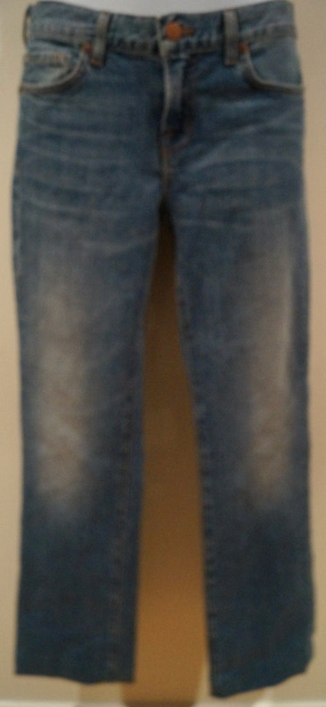 J BRAND Designer Women's Light Blue Cotton Stretch BONAROO Denim Jeans Sz:25