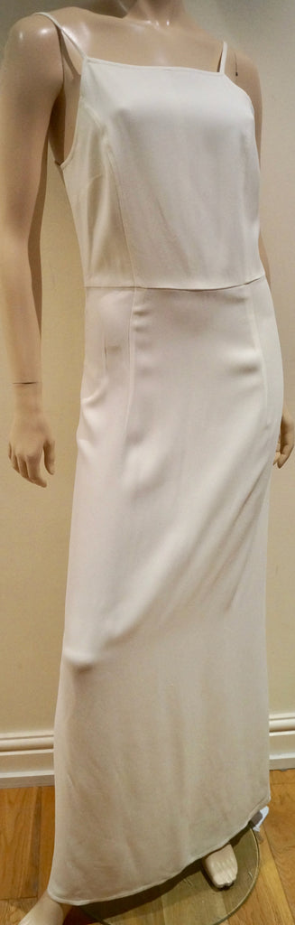 COSTUME NATIONAL Winter White Strappy Sleeveless Full Length Maxi Dress 42 UK10
