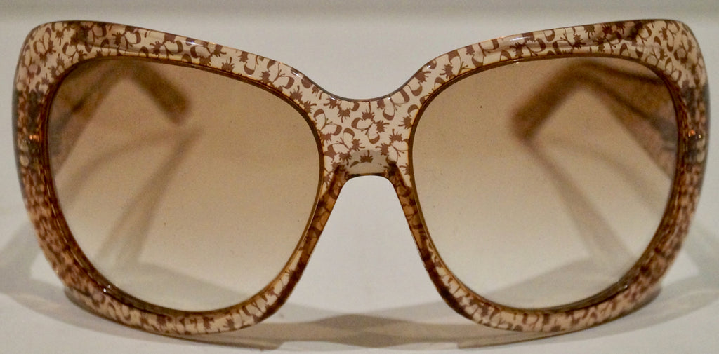 BOTTEGA VENETA Made In Italy Women's Chunky Round Rim Brown Beige Sunglasses