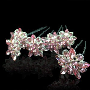 Pack of 6 Hair Pins - Pink
