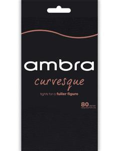 Ambra Curvesque 80D Footless Tights Size 1