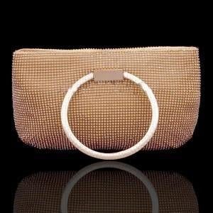 Big Ring Clutch in Gold