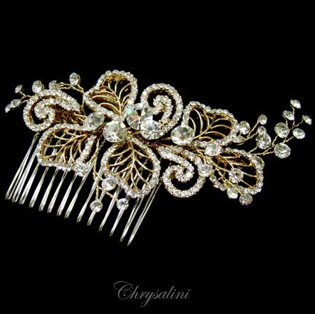 Swar Comp Hair Comb Gold