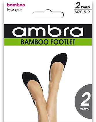Ambra Ecostyle Footlet 2PP Black