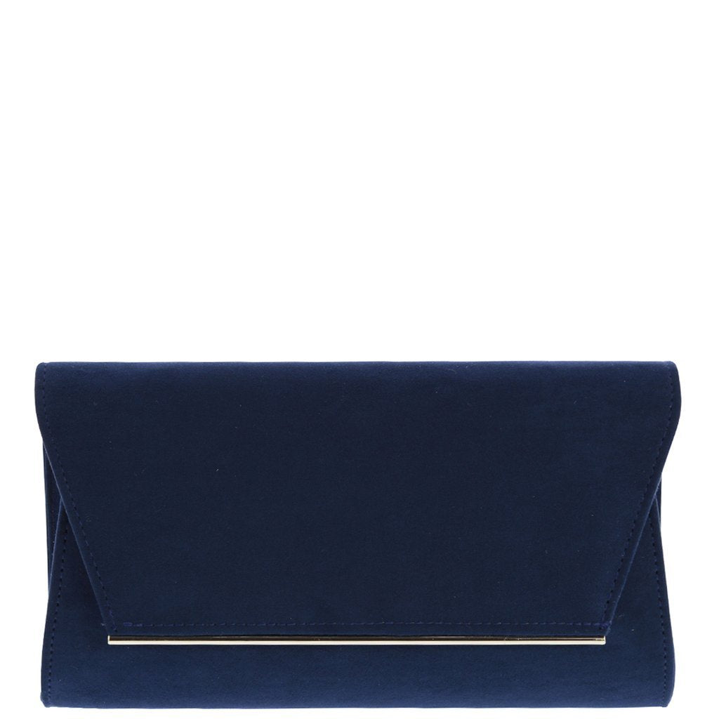 Nicole Faux Suede Clutch