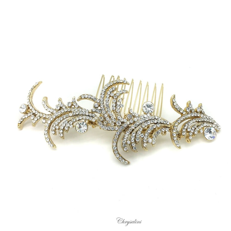 Diamonte Hair Slide Gold
