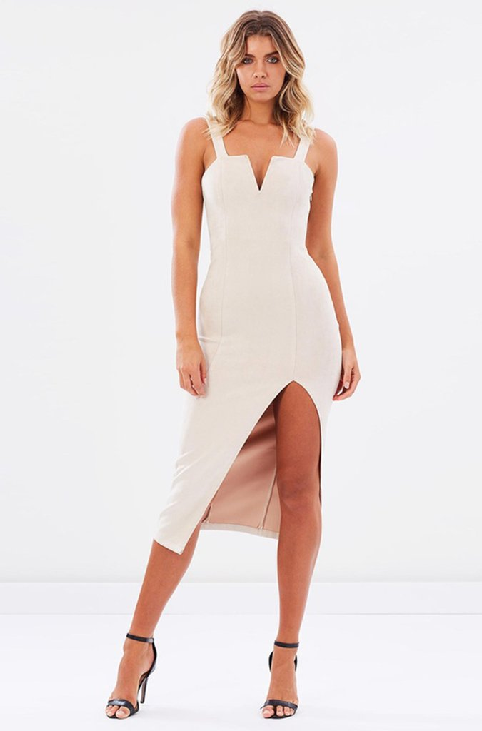 Molly Suedette Dress Nude